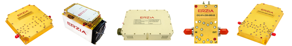 ERZIA's GaN and GaAs based SSPA amplifiers for aerospace, defense and research