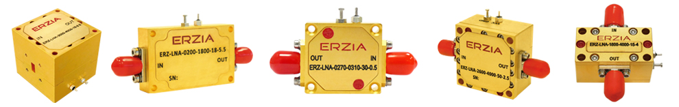 ERZIA's RF low noise amplifiers for aerospace, defense and research