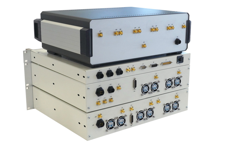 Ground station: Antena box, transceiver and amplifiers